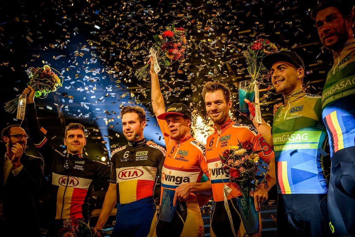 Das Siegerpodium der Six Day Berlin