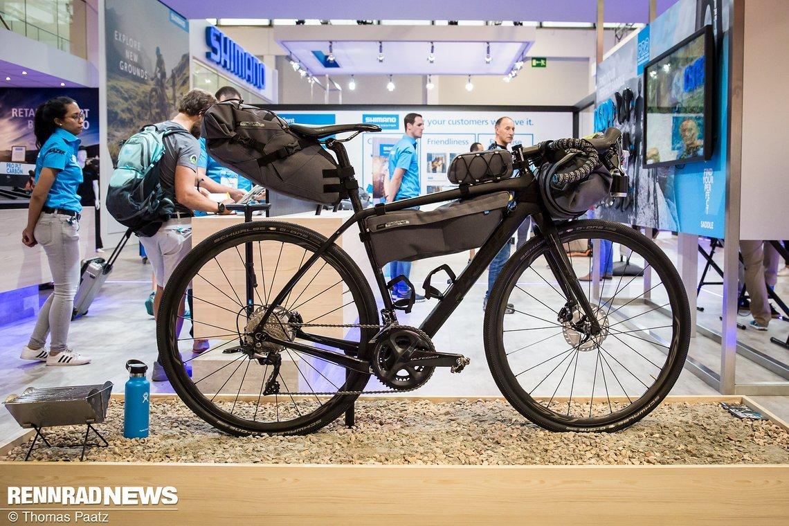 Vollständiges Bikepacking Set-up der neuen Pro Discover Serie