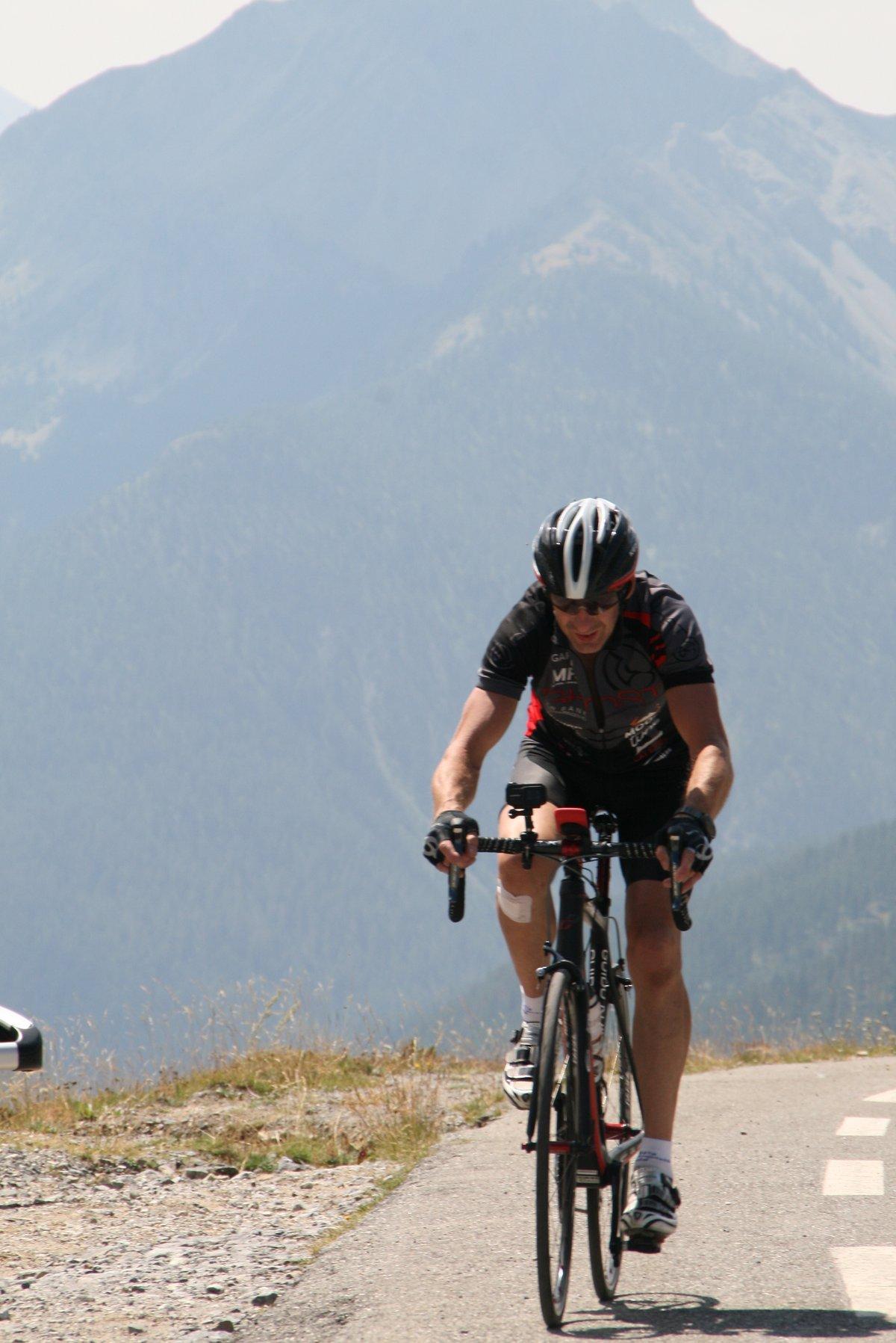 Es gab auch (kurze) Trockenphasen wie hier am Col d'Izoard .