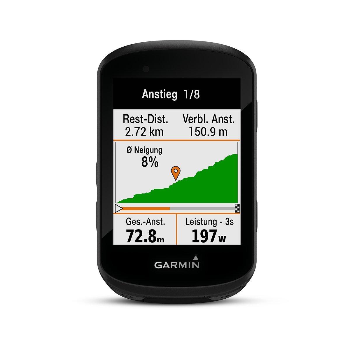 So sieht die neue Climb Pro Funktion am Garmin Edge 530 und  Edge 830 aus