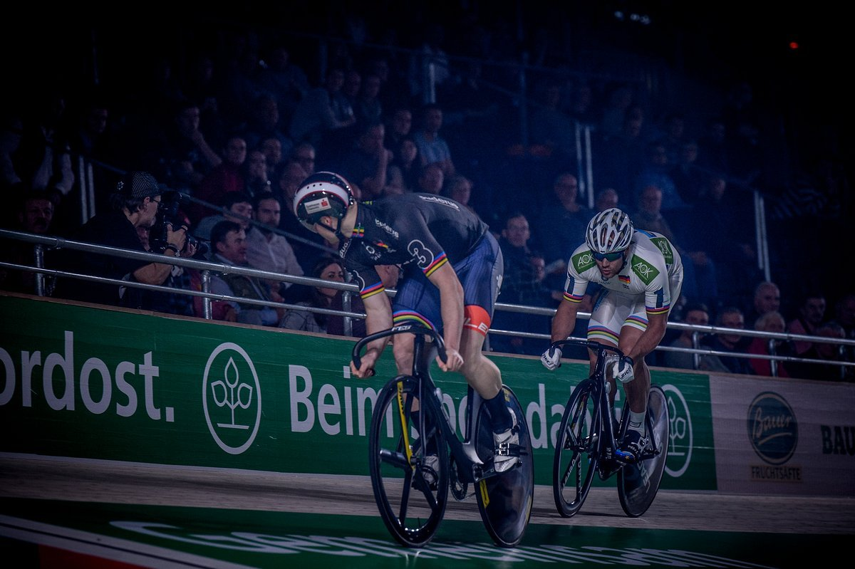 Sprinterduell bei den Six Day Berlin 2018