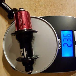 Gewicht Novatec Nabe F482SB Superlight Road  130 mm, 32 Loch