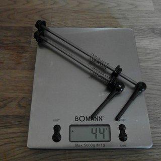Gewicht Eigenmarken Schnellspanner cycle-basar.de Leichtbau Schnellspanner-Set Carbon, Rennrad