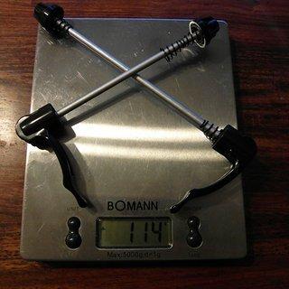 Gewicht Campagnolo Schnellspanner Schnellspanner