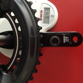 Gewicht Shimano Kurbelgarnitur Dura Ace 9100 172,5