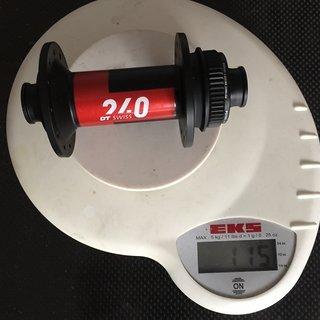 Gewicht DT Swiss Nabe 240 Classic 12x100