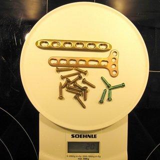 Gewicht No-Name Schrauben, Muttern Schrauben und Platten für Schlüsselbeine