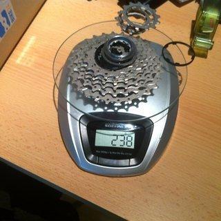 Gewicht Shimano Kassette CS-6700 11-28