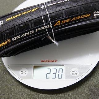 Gewicht Continental Reifen Grand Prix 4-Seasons 700 x 25C