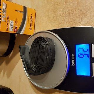 Gewicht Continental Schlauch Race 26 (650C) 42 mm Ventillänge