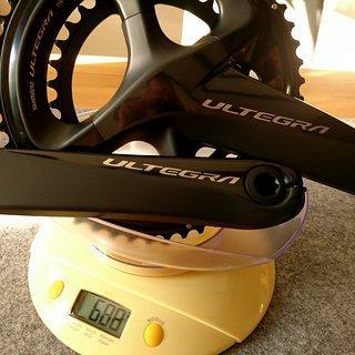 Gewicht Shimano Kurbelgarnitur Ultegra FC-R8000 175mm, 50-34T