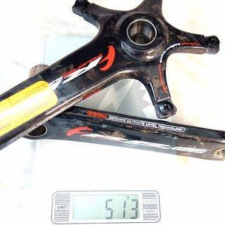 Gewicht Fulcrum Kurbel RRS Racing Torque 172,5mm, BCD 130mm