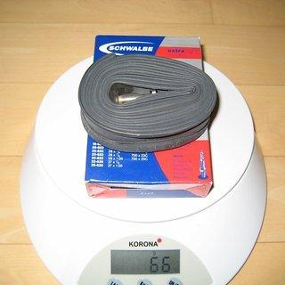 Gewicht Schwalbe Schlauch SV20 extra light 700x18-25