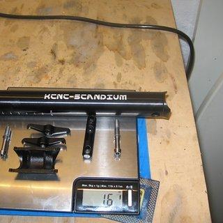 Gewicht KCNC Sattelstütze TI Pro Lite Sattelstütze 31,6 350 mm