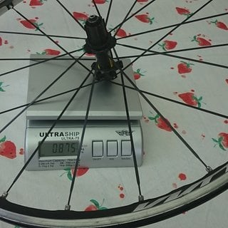 Gewicht Mavic Systemlaufräder Ksyrium Elite Hinterrad ohne Schnellspanner u. Felgenband  622 x 15c