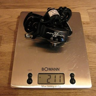 Gewicht Campagnolo Schaltwerk Athena schwarz 11fach