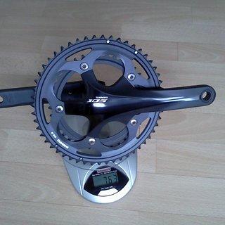 Gewicht Shimano Kurbelgarnitur FC-5700 Hollowtech II 170mm