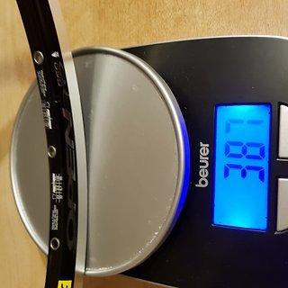 Gewicht Mavic Felge Mavic Open Pro C 650C, 32 Loch