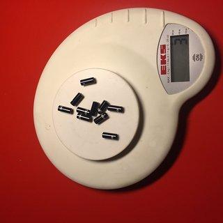 Gewicht capgo Innen- und Außenzüge Endkappen 4mm