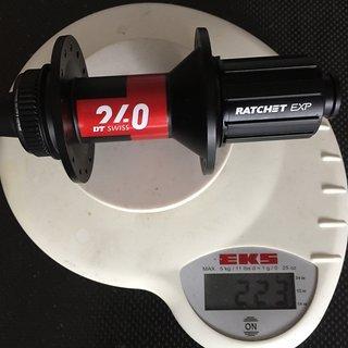 Gewicht DT Swiss Nabe 240 Classic Ratchet EXP 12x142