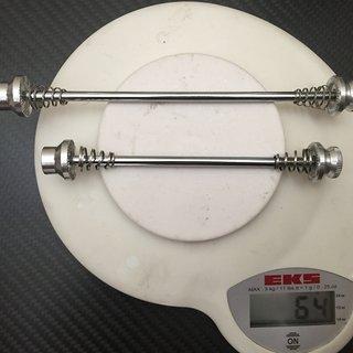 Gewicht Mounty Special Schnellspanner Lite Axles 9mm