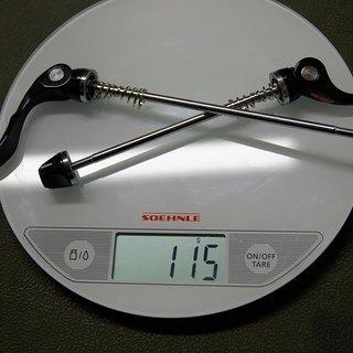 Gewicht DT Swiss Schnellspanner Standard Stahl