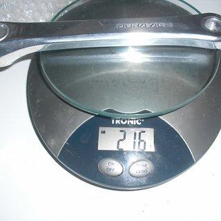 Gewicht Shimano Rahmen Dura Ace 7402 170 mm