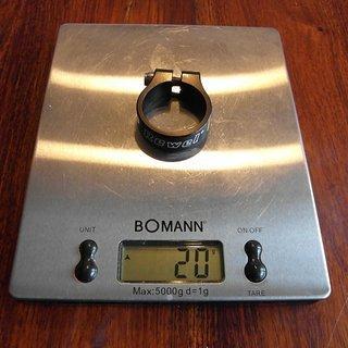 Gewicht Rewel Sattelklemme Sattelklemme Alu für 31,6 mm