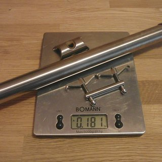 Gewicht No-Name Sattelstütze Titan Sattelstütze 27,2 x 350