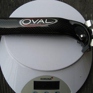 Gewicht Oval Concepts Sattelstütze R900 31,6 x 280 mm