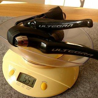 Gewicht Shimano Brems-/Schalthebel-Kombi Ultegra ST-R8020 11-fach, hydraulisch