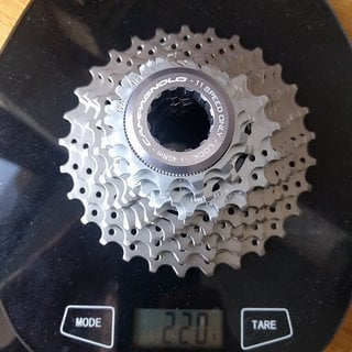 Gewicht Campagnolo Kassette Super Record 11s 12-29