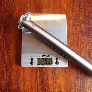 Gewicht Rewel Sattelstütze Sattelstütze Titan Durchmesser: 31,6 mm  Länge: 30 cm