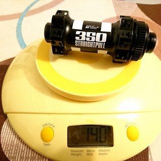 Gewicht DT Swiss Nabe 350 Straightpull Centerlock 9x100mm 28h