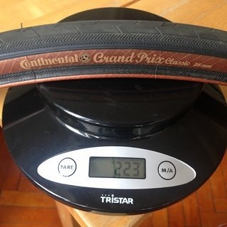 Gewicht Continental Reifen Grand Prix Classic 700 x 25C