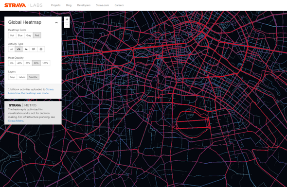 Strava Heat Map Berlin im Detail